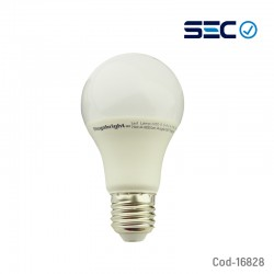 Ampolleta LED Megabright, E-27 A60 Fria 9.5 Watt