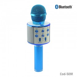 Microfono Bluetooth Karaoke Recargable USB-TF-AUX