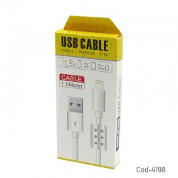 Cable Para Iphone 6-7 A Usb Con Filtro Grueso 1.5 Mts