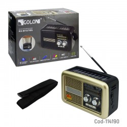 Radio Solar Bluetooth AM/FM/SW/USB/TF/Linterna