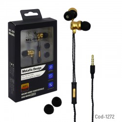 Audifonos Manos Libres In Ear, ML-04 Con Iman