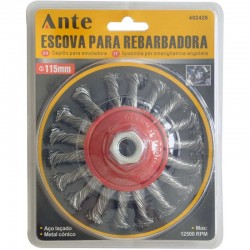 Cepillo para amoladora 115mm 1pc