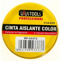Cinta Aislante Color 0.15X18Mm X20Y ( 3 Colores )