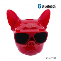 Parlante Recargable Bluetooth, Fm, Tf, Mini Cabeza De Bulldog