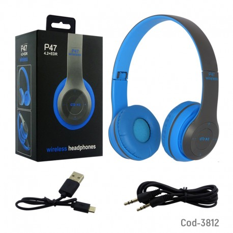 Audifono P47 Bluetooth/Fm/Tf/Microfono