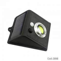 Foco Solar LED COB, A655, Aplique Pared Luz Tenue-Luz Fija. En Caja