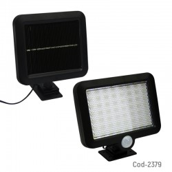 Foco Solar LED Mini 10 Watt, Mod.SL-F56, Con Sensor, 56 LED, En Caja.