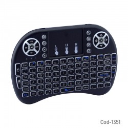 Teclado Mini Con Luz,Para Smart TV, TV Box, PC, Smartphone. En Caja